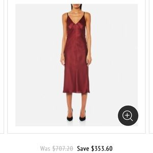 NWOT Helmut Lang Red Silk Dress